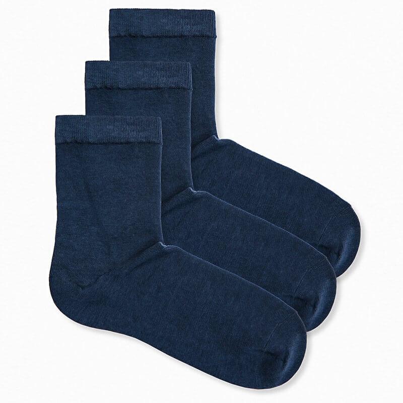 Bombažne nogavice v temno modri barvi