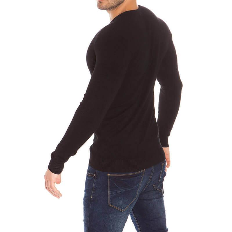 Črn pulover Kenzarro