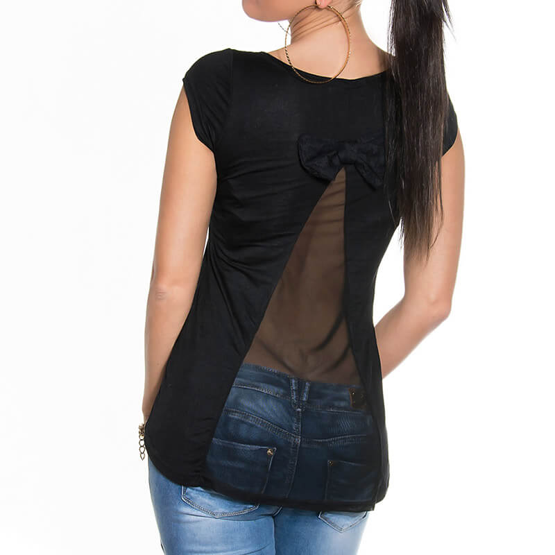 Majica KouCla s prosojnim hrbtnim delom