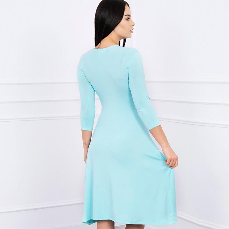 Obleka s 3/4 rokavi v mint barvi