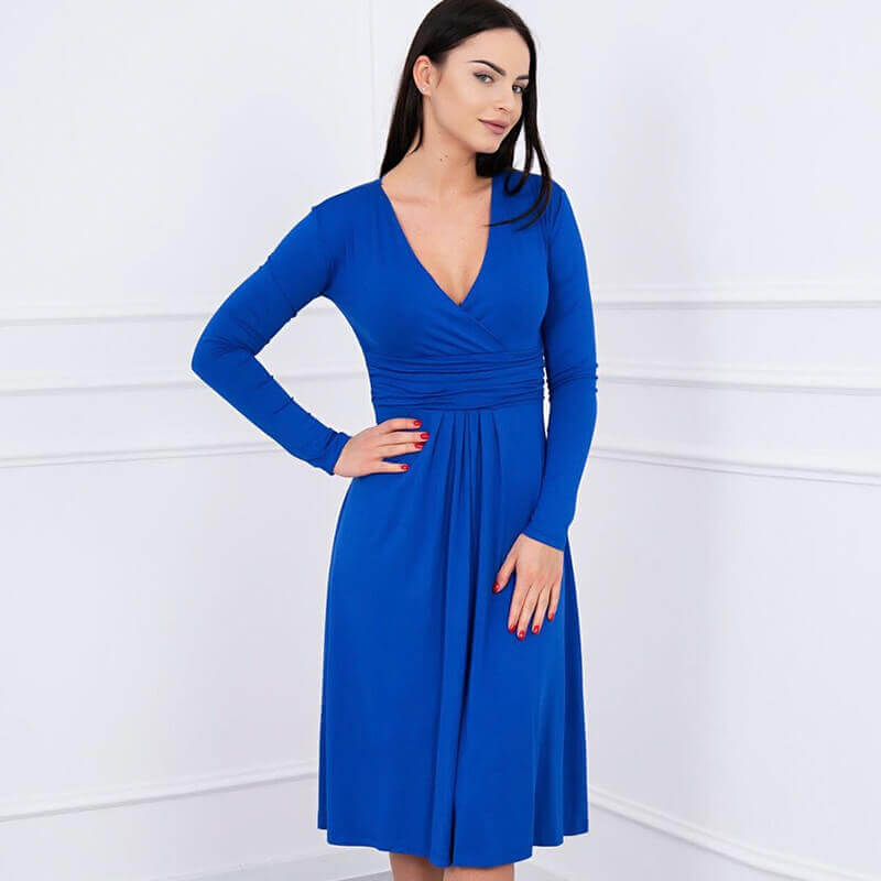 Obleka Za Nosečnice V Modri Barvi