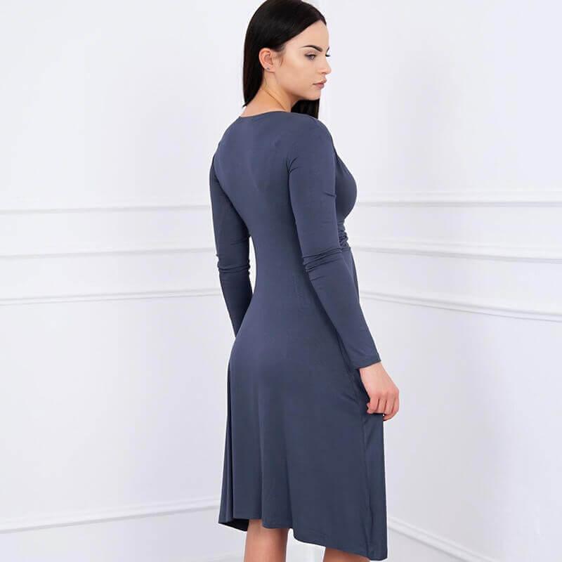 Obleka za nosečnice v temno sivi barvi