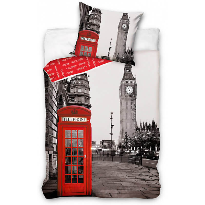 Posteljnina z motivom Londona
