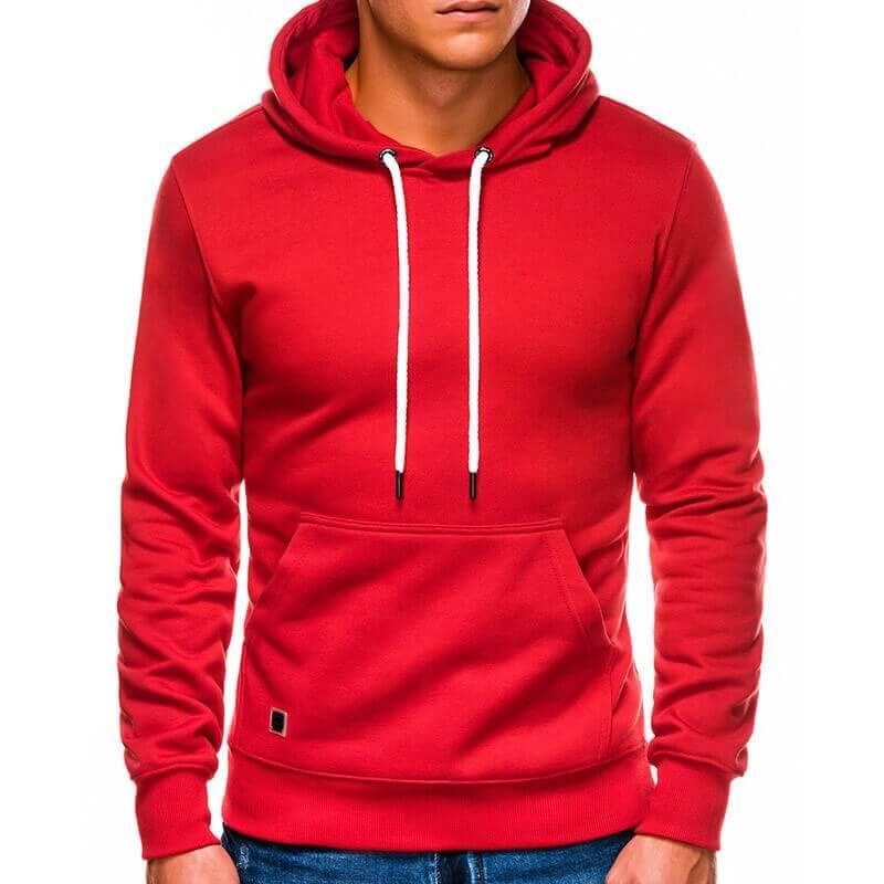 Pulover S Kapuco V Rdeči Barvi