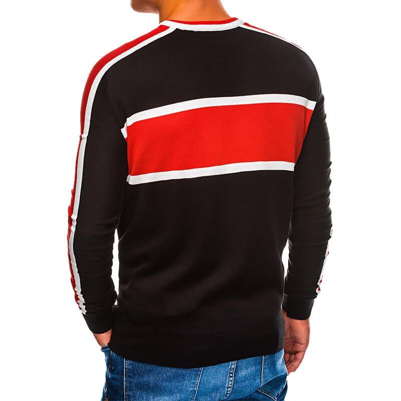 Pulover v črno rdeči barvi