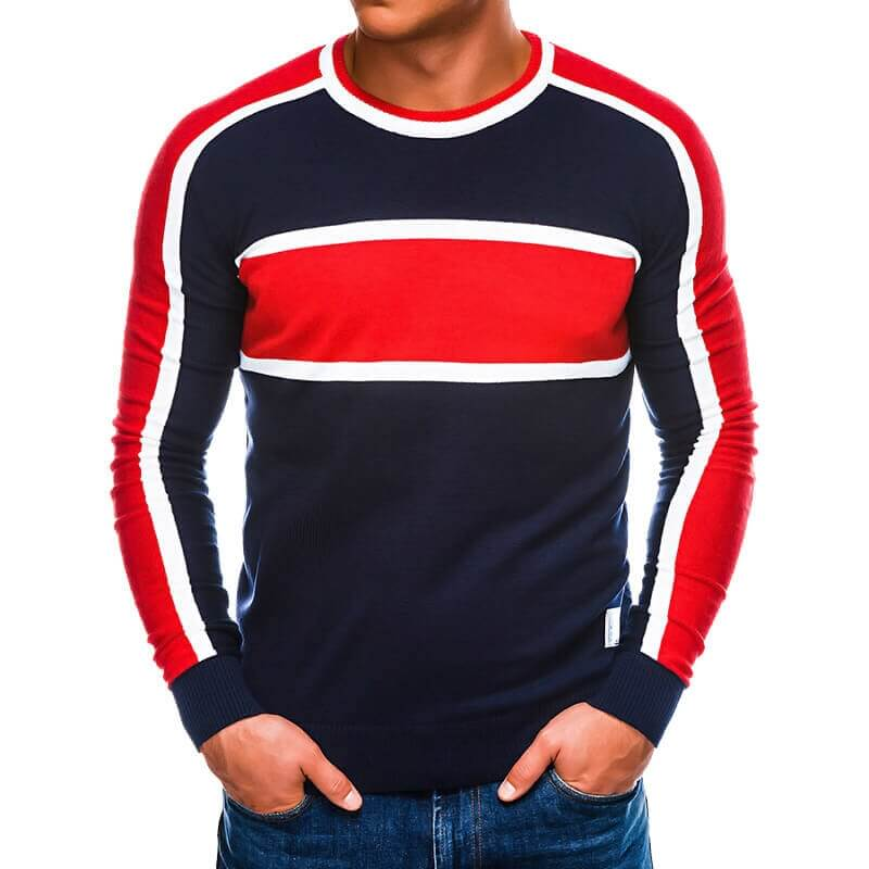 Pulover v modro rdeči barvi