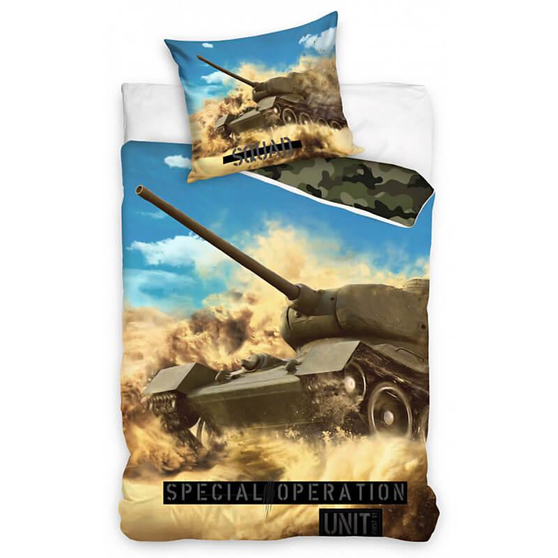 Posteljnina Z Motivom Vojaškega Tanka
